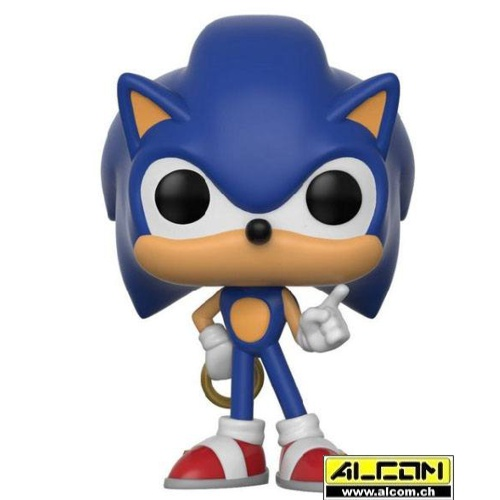 Figur: Funko POP! Sonic the Hedgehog - Sonic with Ring (9 cm)