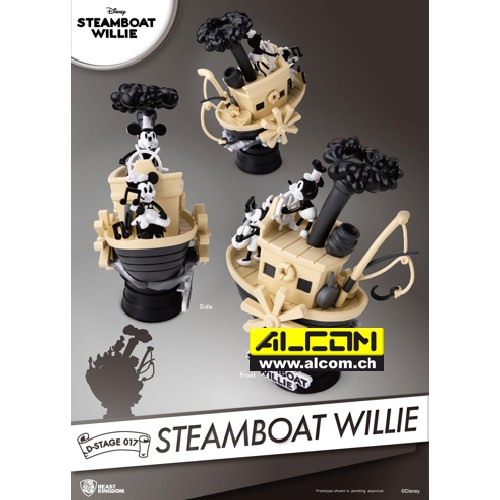 Diorama: Micky Maus - Steamboat Willie (15 cm)
