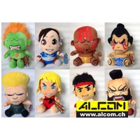 Figurenset: Street Fighter Plüschfiguren, 8 Stk. (15 cm)