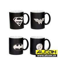 Tassen: Justice League Logos, Collectors Edition, 4er-Pack