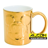Tasse: Micky Maus - Deluxe Relief Gold