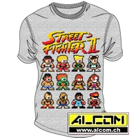 T-Shirt: Street Fighter 2 - Pixel Characters