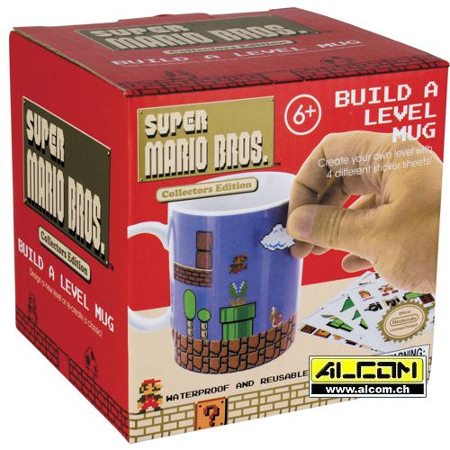 Tasse: Super Mario Bros. - Build-A-Level (selbst beklebbar)