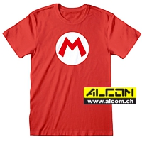 T-Shirt: Super Mario - Mario Badge