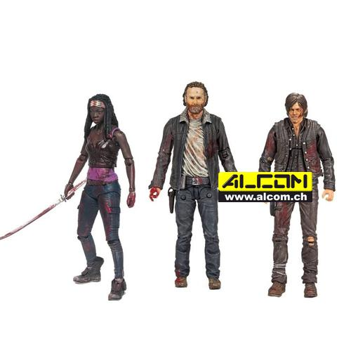 Figurenset: The Walking Dead (Rick, Michonne und Daryl, je 13 cm)