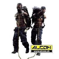 Figur: The Walking Dead - Michonnes Pet Walker Twin Pack (30 cm) ThreeZero