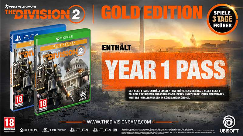 The Division 2 - Gold Edition (Playstation 4)