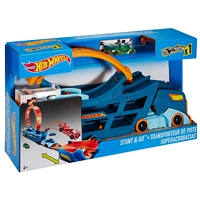 Hot Wheels: Stunt n Go Transporter und Trackset