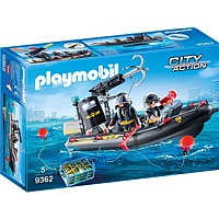 PLAYMOBIL City Action: SEK-Schlauchboot (9362)
