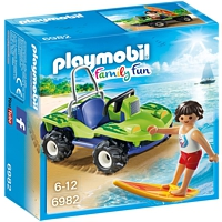 PLAYMOBIL Family Fun: Surfer mit Strandbuggy (6982)