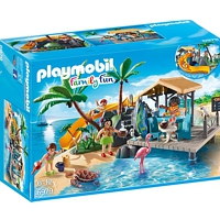 PLAYMOBIL Family Fun: Karibikinsel mit Strandbar (6979)