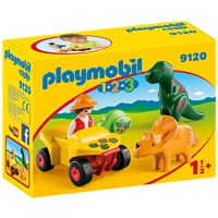 PLAYMOBIL 1-2-3: Dinoforscher mit Quad (9120)