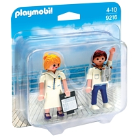 PLAYMOBIL City Action: Duo Pack Stewardess und Offizier (9216)