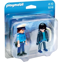 PLAYMOBIL City Action: Duo Pack Polizist und Langfinger (9218)