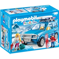 PLAYMOBIL Family Fun: Auto mit Dachbox (9281)