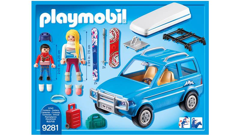 playmobil family fun auto mit dachbox 9281 spielwaren. Black Bedroom Furniture Sets. Home Design Ideas