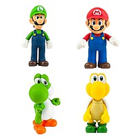 Figurenset: Super Mario Bros. - 4 Figuren (12 cm)