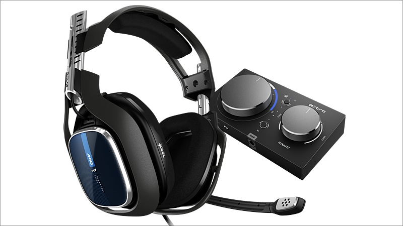Headset Astro Gaming A40 TR inkl. MixAmp Pro, schwarz/blau (2019) (Playstation 4)