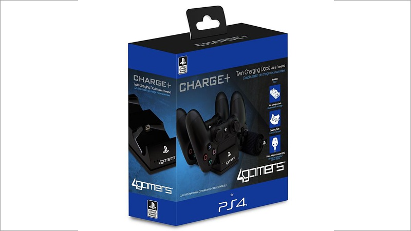 Ladestation für PS4 Dual Shock 4 (Charge+ Twin Charging Dock) (Playstation 4)