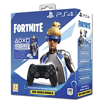 Controller Dual Shock 4, schwarz V2 - Fortnite Neo Versa Bundle (Playstation 4)