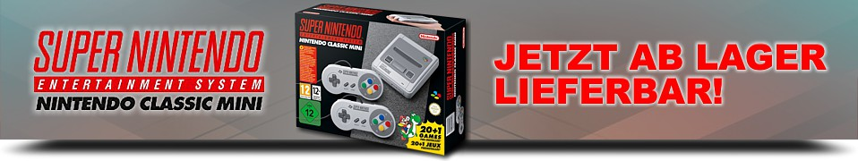 SNES Classic Mini, jetzt ab Lager lieferbar