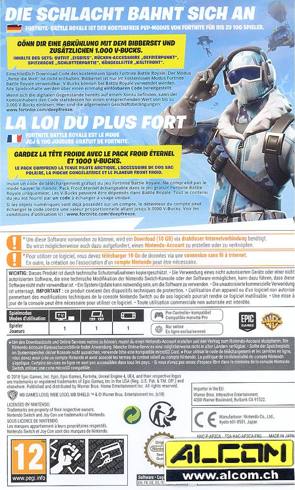 Fortnite Deep Freeze Bundle Code In A Box Switch Alcom Ch
