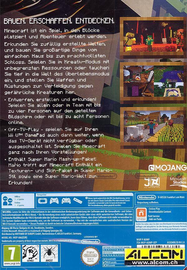 Minecraft Wii U Edition Super Mario MashUp Wii U Alcomch - Minecraft online spielen wii u
